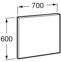 ROCA - Zrcadlo Victoria Basic 700x600mm, rám anodizovaná šedá, hliník (A812327406), fotografie 4/2
