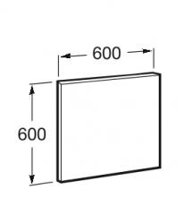 ROCA - Zrcadlo Victoria Basic 600x600mm, rám anodizovaná šedá, hliník (A812326406), fotografie 2/2