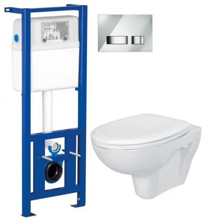 AKCE/SET/CERSANIT - Nádržka + WC + sedátko + tlačítko /K97-108+S97-026+K08-027+K98-0021/ (SET/0002)