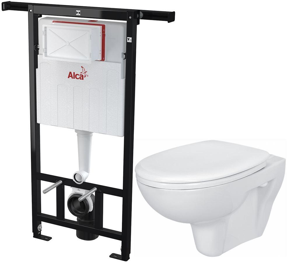 AKCE/SET/ALCAPLAST - Jádromodul - předstěnový instalační systém + WC CERSANIT PRESIDENT + SEDÁTKO (AM102/1120 X PR1)