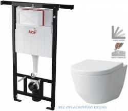 AKCE/SET/ALCAPLAST - Jádromodul - předstěnový instalační systém + WC LAUFEN PRO RIMLESS + SEDÁTKO (AM102/1120 X LP1)