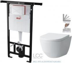 AKCE/SET/ALCAPLAST - Jádromodul - předstěnový instalační systém + WC LAUFEN PRO LCC RIMLESS + SEDÁTKO (AM102/1120 X LP2)