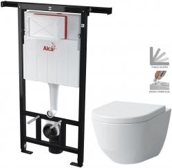 AKCE/SET/ALCAPLAST - SET Jádromodul - předstěnový instalační systém + WC LAUFEN PRO + SEDÁTKO (AM102/1120 X LP3)
