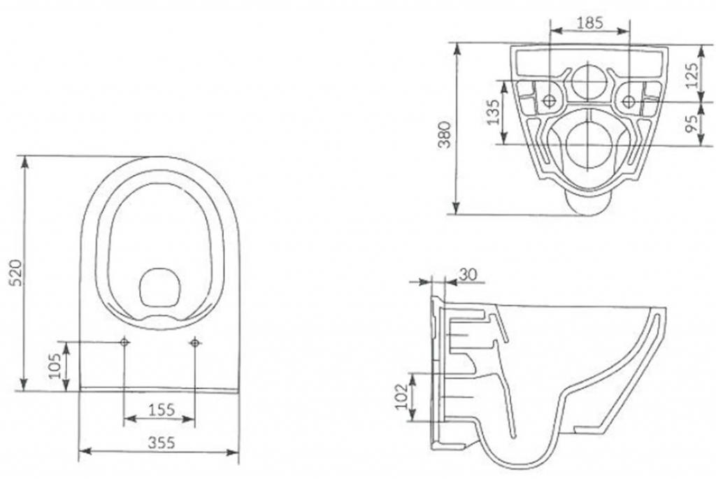 AKCE/SET/ALCAPLAST - Jádromodul - předstěnový instalační systém + tlačítko M1710 + WC CERSANIT CLEANON CREA OVÁL + SEDÁTKO (AM102/1120 M1710 CR1), fotografie 16/9