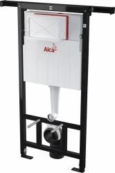 ALCAPLAST  Jádromodul - předstěnový instalační systém s bílým tlačítkem M1710 + WC CERSANIT ZEN CLEANON + SEDÁTKO (AM102/1120 M1710 HA1), fotografie 4/10