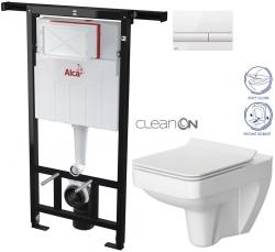 SET Jádromodul - předstěnový instalační systém + tlačítko M1710 + WC CERSANIT CLEANON SPELNDOUR + SEDÁTKO (AM102/1120 M1710 SP1) - AKCE/SET/ALCAPLAST