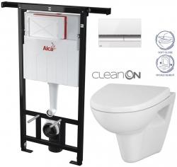 AKCE/SET/ALCAPLAST - SET Jádromodul - předstěnový instalační systém + tlačítko M1720-1 + WC CERSANIT CLEANON PARVA + SEDÁTKO (AM102/1120 M1720-1 PA1)