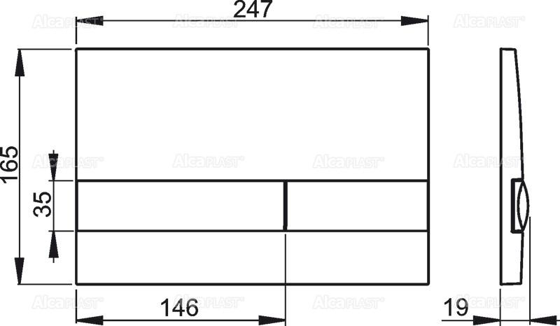 AKCE/SET/ALCAPLAST - Jádromodul - předstěnový instalační systém + tlačítko M1721 + WC CERSANIT CLEANON PARVA + SEDÁTKO (AM102/1120 M1721 PA2), fotografie 6/4