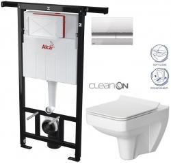 SET Jádromodul - předstěnový instalační systém + tlačítko M1721 + WC CERSANIT CLEANON SPLENDOUR + SEDÁTKO (AM102/1120 M1721 SP1) - AKCE/SET/ALCAPLAST