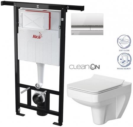 AKCE/SET/ALCAPLAST - SET Jádromodul - předstěnový instalační systém + tlačítko M1721 + WC CERSANIT CLEANON SPLENDOUR + SEDÁTKO (AM102/1120 M1721 SP1)