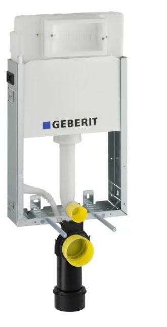 AKCE/SET/GEBERIT - KOMBIFIXBasic včetně ovládacího tlačítka DELTA 21 Bílé pro závěsné WC TESI RIMLESS (110.100.00.1 21BI TE2), fotografie 18/11