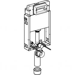 AKCE/SET/GEBERIT - KOMBIFIXBasic včetně ovládacího tlačítka DELTA 21 Bílé pro závěsné WC TESI RIMLESS (110.100.00.1 21BI TE2), fotografie 6/11