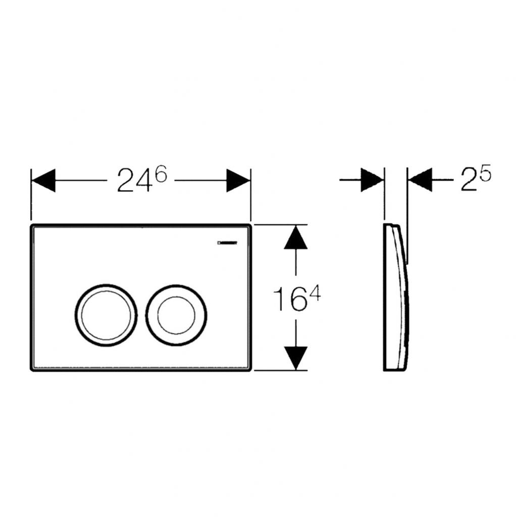 AKCE/SET/GEBERIT - KOMBIFIXBasic včetně ovládacího tlačítka DELTA 21 Bílé pro závěsné WC TESI RIMLESS (110.100.00.1 21BI TE2), fotografie 14/11