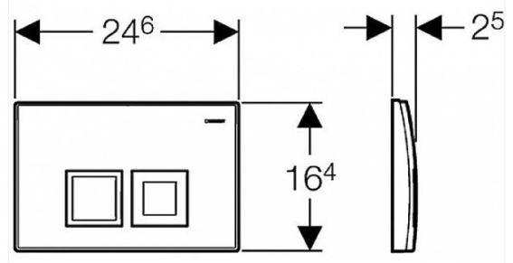 AKCE/SET/GEBERIT - KOMBIFIXBasic včetně ovládacího tlačítka DELTA 50 Bílé pro závěsné WC TESI RIMLESS (110.100.00.1 50BI TE2), fotografie 14/11