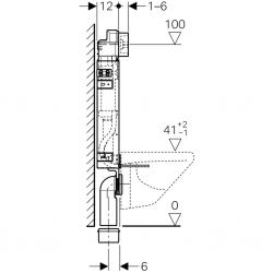 AKCE/SET/GEBERIT - SET KOMBIFIXBasic včetně ovládacího tlačítka DELTA 50 CR pro závěsné WC TESI RIMLESS (110.100.00.1 50CR TE2), fotografie 10/11