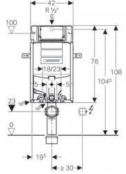 AKCE/SET/GEBERIT - Kombifix KOMBIFIX ECO pro závěsné WC, nádržka UP 320 bez Ovládací desky + WC TESI RIMLESS (110.302.00.5 TE2), fotografie 10/10