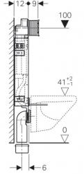 AKCE/SET/GEBERIT - Kombifix KOMBIFIX ECO pro závěsné WC, nádržka UP 320 bez Ovládací desky + WC TESI RIMLESS (110.302.00.5 TE2), fotografie 12/10