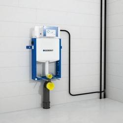 AKCE/SET/GEBERIT - Kombifix KOMBIFIX ECO pro závěsné WC, nádržka UP 320 bez Ovládací desky + WC TESI RIMLESS (110.302.00.5 TE2), fotografie 14/10