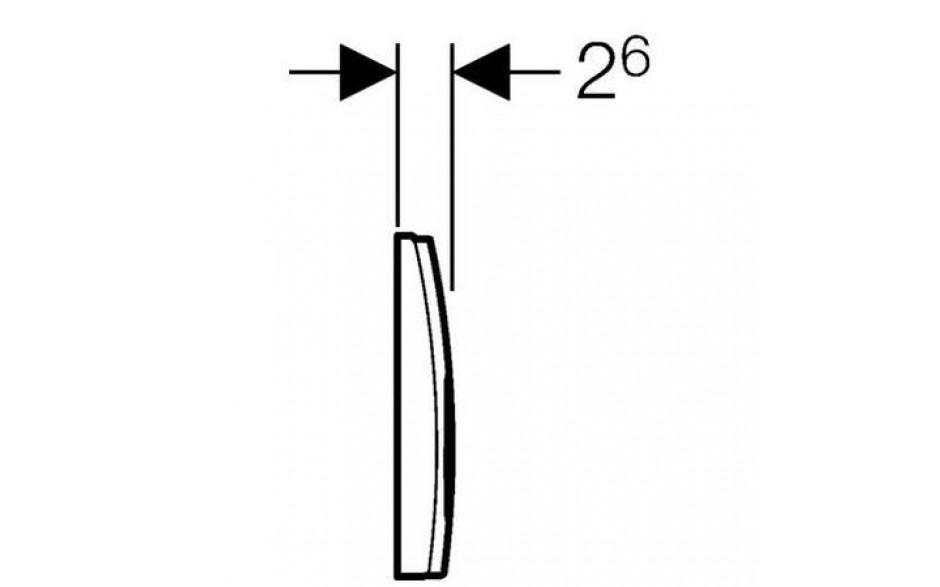 AKCE/SET/GEBERIT - Duofix Sada pro závěsné WC 458.103.00.1 + tlačítko DELTA21 bílé + WC TESI RIMLESS (458.103.00.1 21BI TE2), fotografie 10/10