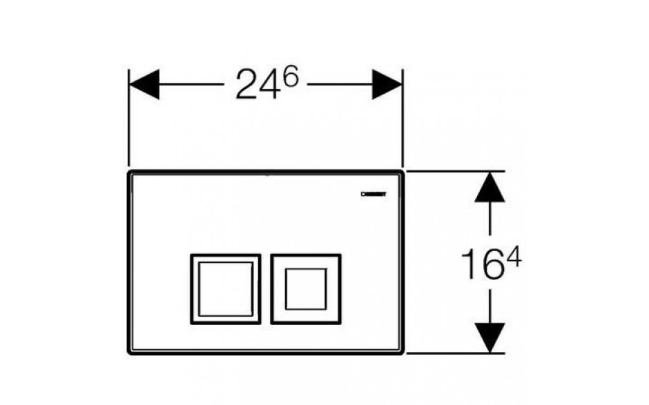 AKCE/SET/GEBERIT - Duofix Sada pro závěsné WC 458.103.00.1 + tlačítko DELTA50 bílé + WC TESI RIMLESS (458.103.00.1 50BI TE2), fotografie 6/10
