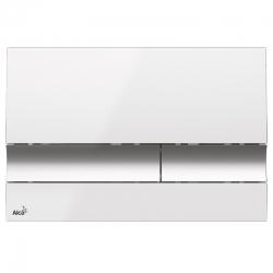 ALCAPLAST  Jádromodul - předstěnový instalační systém s bílým/ chrom tlačítkem M1720-1 + WC Ideal Standard Tesi se sedátkem RIMLESS (AM102/1120 M1720-1 TE2), fotografie 14/9
