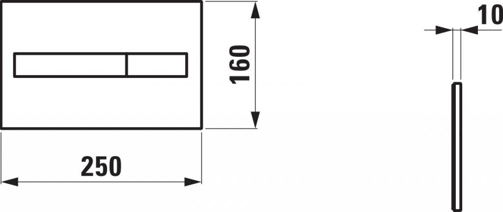 AKCE/SET/LAUFEN - Podomít. systém LIS TW1 SET + ovládací tlačítko CHROM + WC TESI RIMLESS (H8946630000001CR TE2), fotografie 14/9