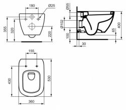 GEBERIT KOMBIFIXBasic vč. matného tlačítka DELTA 21 + WC Ideal Standard Tesi se sedátkem (110.100.00.1 21MA TE3), fotografie 16/9