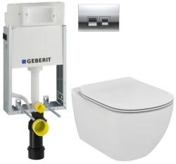AKCE/SET/GEBERIT - SET KOMBIFIXBasic včetně ovládacího tlačítka DELTA 50 CR pro závěsné WC TESI (110.100.00.1 50CR TE3)