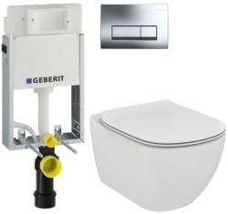 SET KOMBIFIXBasic včetně ovládacího tlačítka DELTA 51 CR pro závěsné  WC TESI (110.100.00.1 51CR TE3) - AKCE/SET/GEBERIT