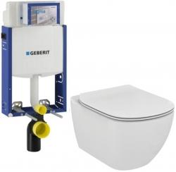AKCE/SET/GEBERIT - SET Kombifix KOMBIFIX ECO pro závěsné WC, nádržka UP 320 bez Ovládací desky + WC TESI (110.302.00.5 TE3)