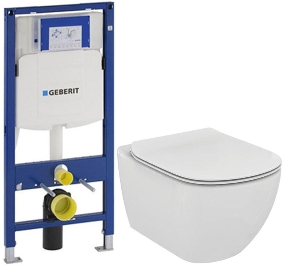 AKCE/SET/GEBERIT - Duofix pro závěsné WC 111.300.00.5 bez ovládaví desky + WC TESI (111.300.00.5 TE3)