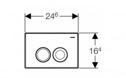 AKCE/SET/GEBERIT - SET Duofix Sada pro závěsné WC 458.103.00.1 + tlačítko DELTA21 matné + WC TESI (458.103.00.1 21MA TE3), fotografie 8/8