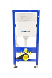 GEBERIT DuofixBasic s chromovým tlačítkem DELTA50 + WC Ideal Standard Tesi se sedátkem (458.103.00.1 50CR TE3), fotografie 4/8
