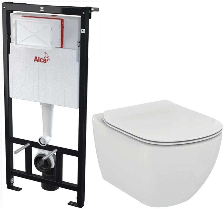 AKCE/SET/ALCAPLAST - Sádromodul - předstěnový instalační systém + WC TESI (AM101/1120 X TE3)