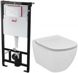 SET Sádromodul - předstěnový instalační systém + WC TESI (AM101/1120 X TE3) - AKCE/SET/ALCAPLAST