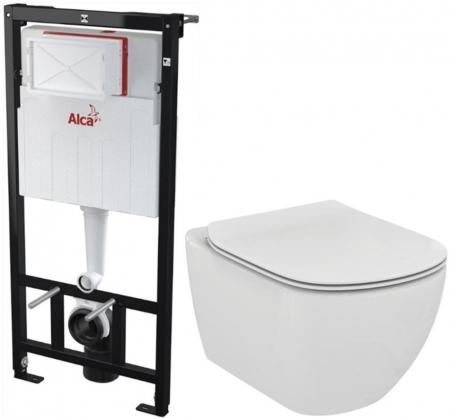 AKCE/SET/ALCAPLAST - SET Sádromodul - předstěnový instalační systém + WC TESI (AM101/1120 X TE3)