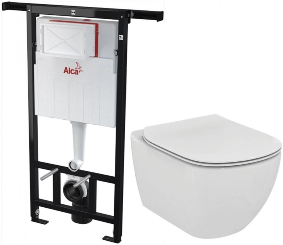AKCE/SET/ALCAPLAST SET Jádromodul předstěnový instalační systém + WC TESI AM102/1120 X TE3