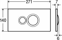 AKCE/SET/VIEGA - SET MONO modul WC čelní ovládání + ovládací tlačítko BÍLÉ + WC TESI (V606732BI TE3), fotografie 8/7