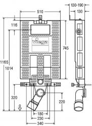 AKCE/SET/VIEGA - SET MONO modul WC čelní ovládání + ovládací tlačítko BÍLÉ + WC TESI (V606732BI TE3), fotografie 10/7