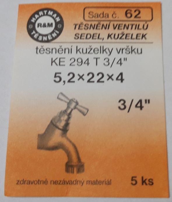 """VÝPRODEJ - Těsnění 5,2x22x4 3/4"""" (S62)"""