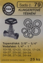 Těsnění klingeritová 25 ks (S79) - VÝPRODEJ
