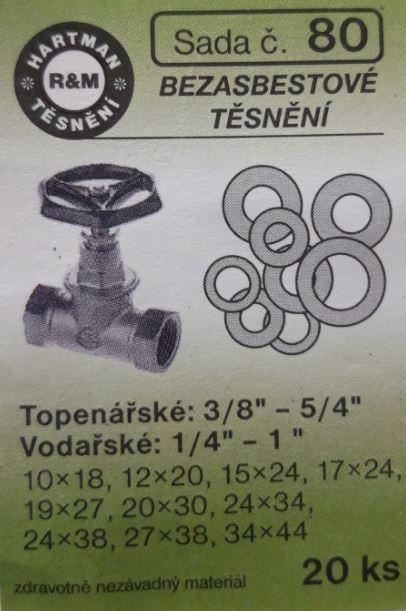 VÝPRODEJ - Těsnění bezazbestová 20 ks (S80)
