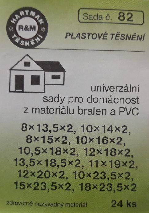 VÝPRODEJ - Těsnění plastová 24 ks (S82)