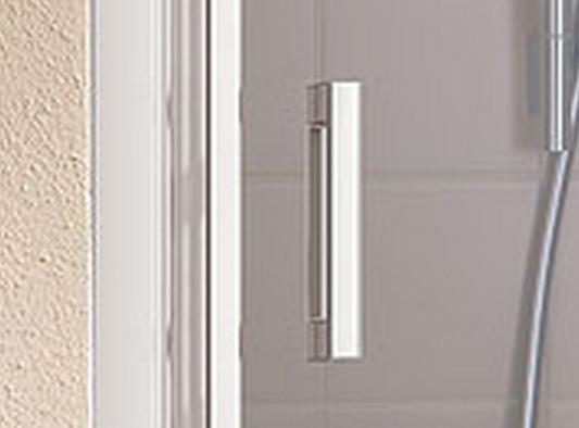 VÝPRODEJ - Kermi Kyvné dveře Cada XS 1GR 12020 1160-1210/2000 stříbrná vys.lesk ESG čiré Clean 1-křídlé kyvné dveře s pev. polem panty vpravo (CC1GR12020VPKVYP), fotografie 2/9