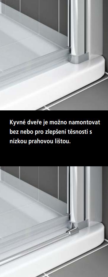VÝPRODEJ - Kermi Kyvné dveře Cada XS 1GR 12020 1160-1210/2000 stříbrná vys.lesk ESG čiré Clean 1-křídlé kyvné dveře s pev. polem panty vpravo (CC1GR12020VPKVYP), fotografie 14/9