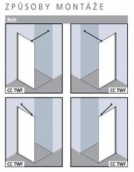 Kermi Boční stěna Cada XS TWF 10020 975-1000/2000 stříbrná vys.lesk Serig.CC Clean boční stěna volně stojící  (CCTWF10020VVKVYP) - VÝPRODEJ, fotografie 10/5