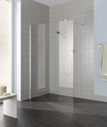 Kermi Boční stěna Filia TPF 09020 900/2000 stříbrná vys.lesk ESG čiré Clean boční stěna volně stojící  (FITPF09020VPKVYP) - VÝPRODEJ