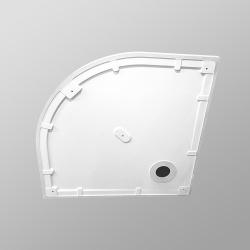 PRIM - Sprchová vanička čtvrtkruh 800x800 bílá BEZ NOH (PRIM8080R55M), fotografie 10/13