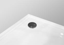 PRIM - Sprchová vanička čtvrtkruh 800x800 bílá BEZ NOH (PRIM8080R55M), fotografie 22/13