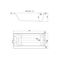 CERSANIT - VANA SMART 170X80 LEVÁ (S301-117), fotografie 18/9